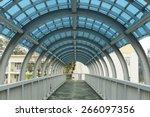 Inside The City Walkway Bridge...