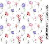 watercolor floral pattern  ... | Shutterstock . vector #266098202