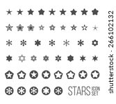 Vector Set Of Star Icons And...