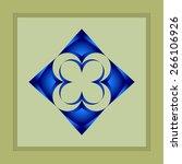 abstract round figure art deco... | Shutterstock . vector #266106926