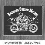 skeleton rider motorcycle... | Shutterstock .eps vector #266107988
