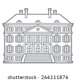 Old Vintage House  Vector...