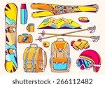 vector illustration of winter...   Shutterstock .eps vector #266112482
