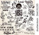 vector set of calligraphic ands ...   Shutterstock .eps vector #266131235