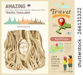 thailand  amazing travel... | Shutterstock .eps vector #266131322