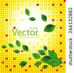 vector nature background | Shutterstock .eps vector #266132882
