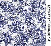 flower pattern | Shutterstock .eps vector #266136305