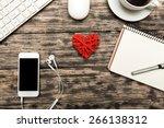 facebook  mock  up. | Shutterstock . vector #266138312
