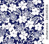 flower pattern | Shutterstock .eps vector #266140316