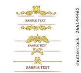 hand drawn vintage frames and... | Shutterstock .eps vector #266144462