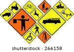 warning  road crossing signs ... | Shutterstock .eps vector #266158