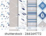 set of sea and nautical... | Shutterstock .eps vector #266164772