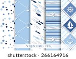set of sea and nautical... | Shutterstock .eps vector #266164916