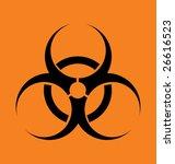 "vector sign ""biohazard"" on an... | Shutterstock .eps vector #26616523"