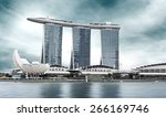 urban landscape of singapore... | Shutterstock . vector #266169746