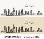 los angeles skyline  california ...   Shutterstock .eps vector #266172488