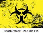 biohazard symbol. virus ... | Shutterstock .eps vector #266185145