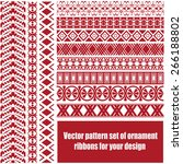 vector pattern set of ornament... | Shutterstock .eps vector #266188802