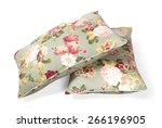 two pillows flowered isolated | Shutterstock . vector #266196905