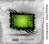 banner in dark grunge style | Shutterstock .eps vector #266199446