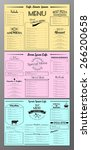 vector set of vintage menu...   Shutterstock .eps vector #266200658