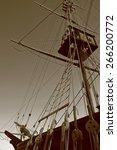 part of ship in sephia tone | Shutterstock . vector #266200772