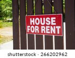 rent or rental house of... | Shutterstock . vector #266202962
