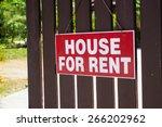 rent or rental house of... | Shutterstock . vector #266202962