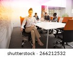 young business people group... | Shutterstock . vector #266212532