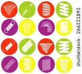 monochrome icon set with springs | Shutterstock .eps vector #266221892
