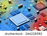 electronic circuit board close... | Shutterstock . vector #266228582