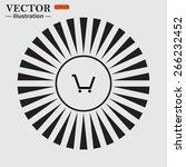 circle. the sun. rays. black... | Shutterstock .eps vector #266232452