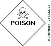 poison. poster for the safety... | Shutterstock .eps vector #266232716