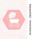 baby card girl  | Shutterstock .eps vector #266244566
