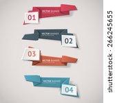 vector infographic origami... | Shutterstock .eps vector #266245655