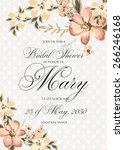 bridal shower invitation card | Shutterstock .eps vector #266246168