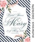 bridal shower invitation | Shutterstock .eps vector #266246396