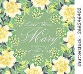 bridal shower invitation   Shutterstock .eps vector #266246402