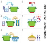 cooking pasta infographics.... | Shutterstock .eps vector #266253182
