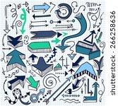 hand drawn infographic element... | Shutterstock .eps vector #266258636