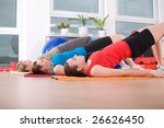 young women exercising in a... | Shutterstock . vector #26626450
