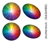color wheel with shade of... | Shutterstock .eps vector #266264882