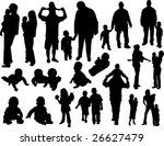 family silhouettes | Shutterstock .eps vector #26627479