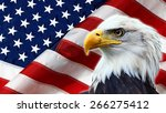 north american bald eagle on... | Shutterstock . vector #266275412