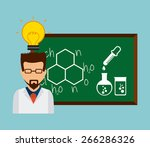 scientific laboratory design ... | Shutterstock .eps vector #266286326
