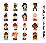 person avatars design vector... | Shutterstock .eps vector #266286932