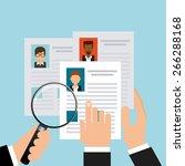 search job design  vector... | Shutterstock .eps vector #266288168