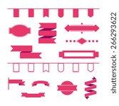 label set   red | Shutterstock .eps vector #266293622