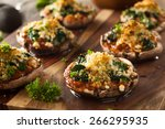 homemade baked stuffed... | Shutterstock . vector #266295935