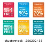 sale coupon  offers promotions  ... | Shutterstock .eps vector #266302436